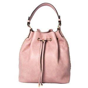 Tigerstars Pink Tassel Bucket Drawstring Bag